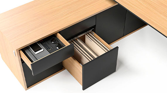 MOTION EXECUTIVE Schreibtisch Sideboard Schubladen