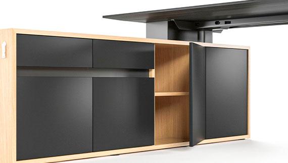 MOTION EXECUTIVE Schreibtisch Sideboard Flügeltüren EInlegeboden