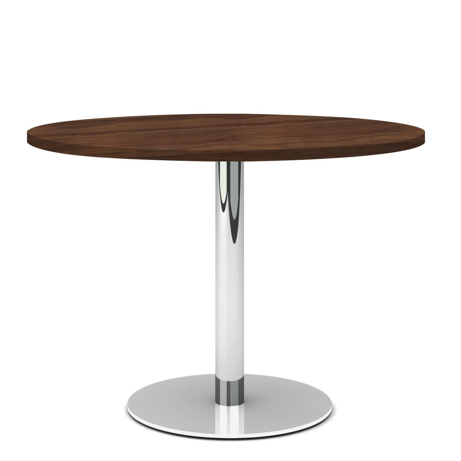 OPTIMA runder Besprechungstisch Esstisch Küchentisch Tisch Nussbaum Rund Ø 100 cm