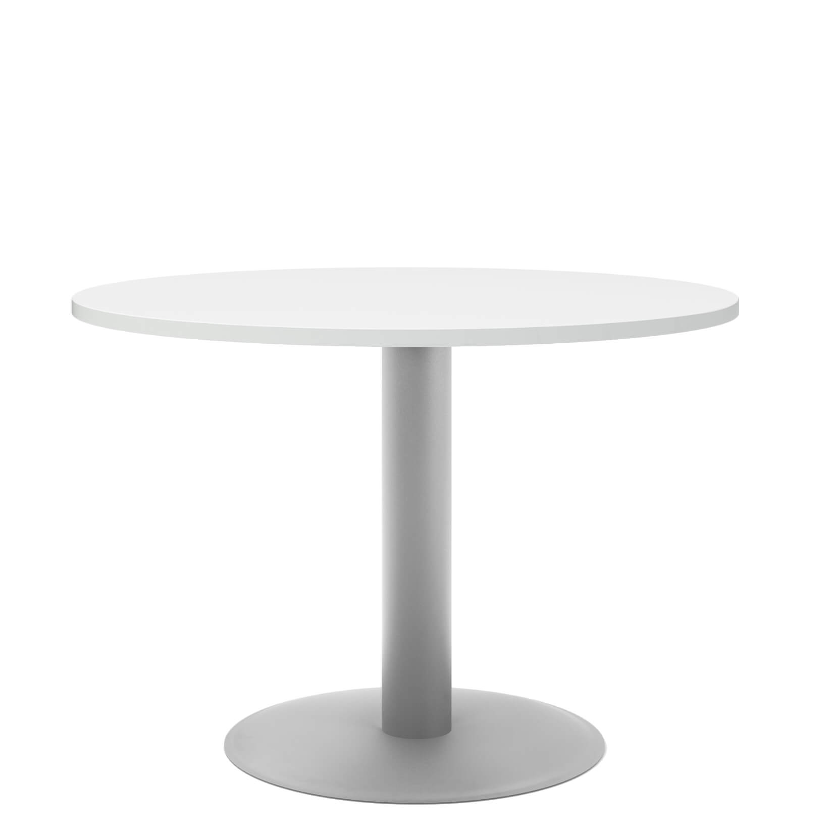 Runder Konferenztisch 6 Personen.Optima Runder Besprechungstisch Esstisch Küchentisch Tisch Weiß Rund ø 100 Cm