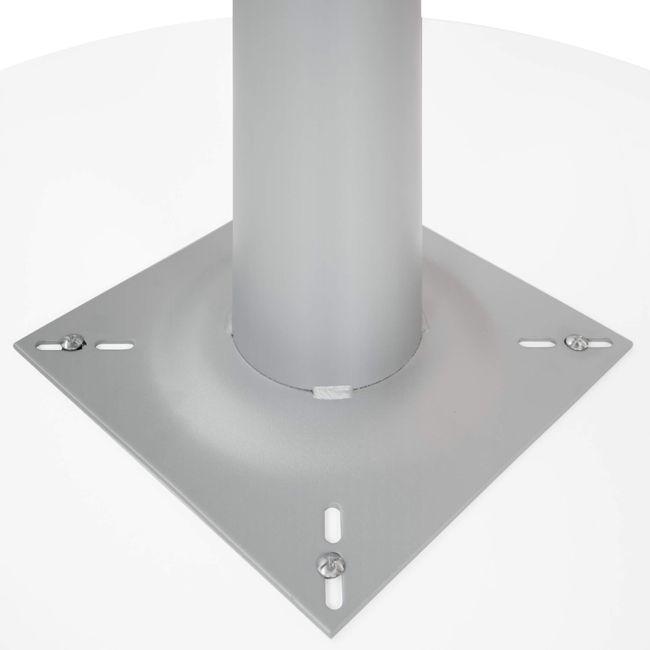 OPTIMA Besprechungstisch | Rund, Gestell Silber, Ø 1000 mm, Weiß