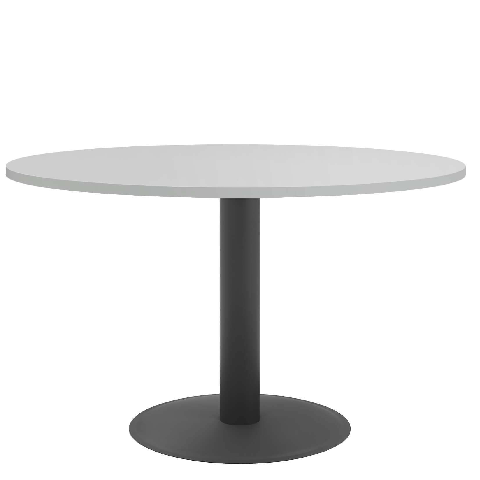 OPTIMA runder Besprechungstisch Esstisch Küchentisch Tisch Lichtgrau Rund Ø 120 cm