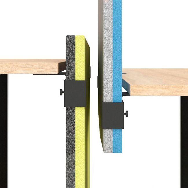 MODUS Akustik-Tischtrennwand   Wollbezüge VELITO / SYNERGY