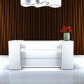 Empfangstheke NOVUM RV-3 Weiß, 2.000 mm LED-Beleuchtung