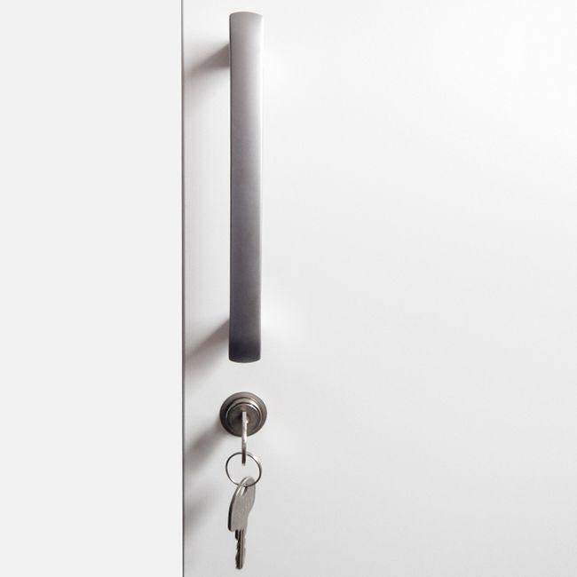 NOVUM Empfangstheke | LED-Beleuchtung optional, 2400 mm, Weiß