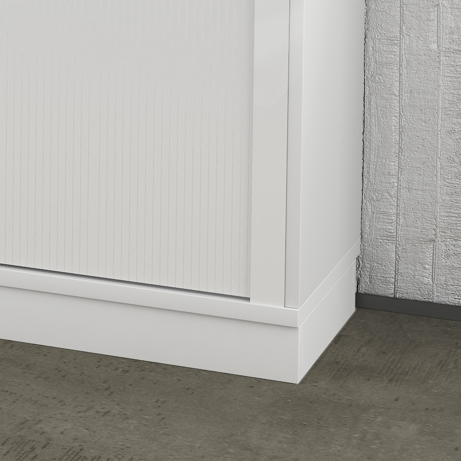 Holzsockel Sockel UNI 1.000 mm breit in Weiß