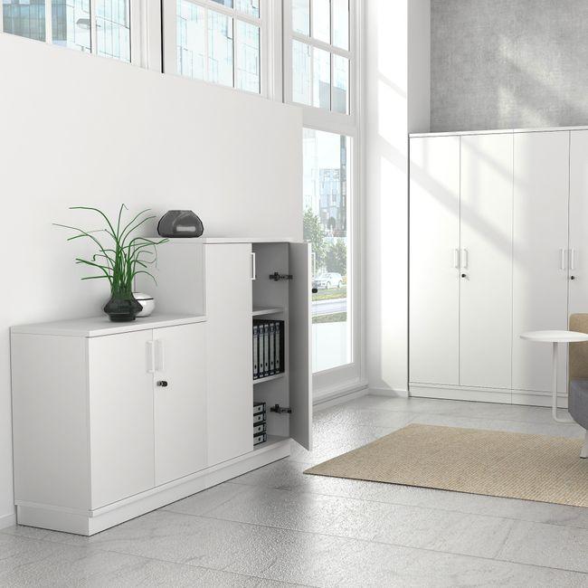 UNI Holzsockel | 1000 mm, Weiß