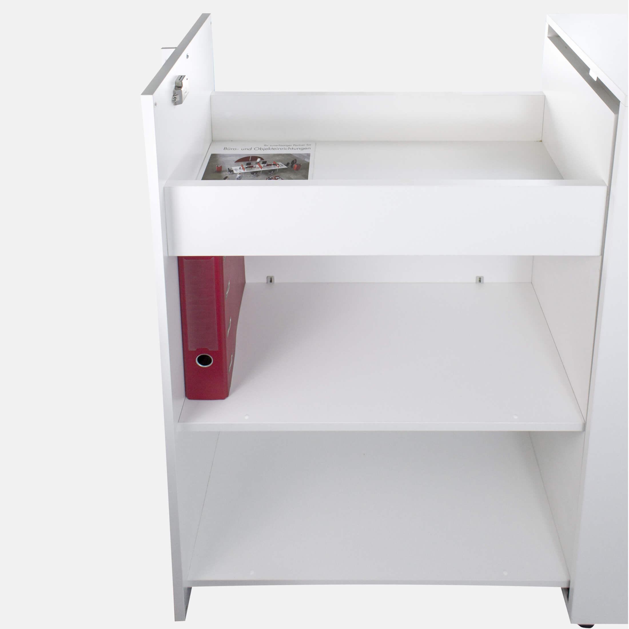 NOVA Apothekerschrank in Weiß 40 x 80 cm, Caddy, Hochcontainer, Container