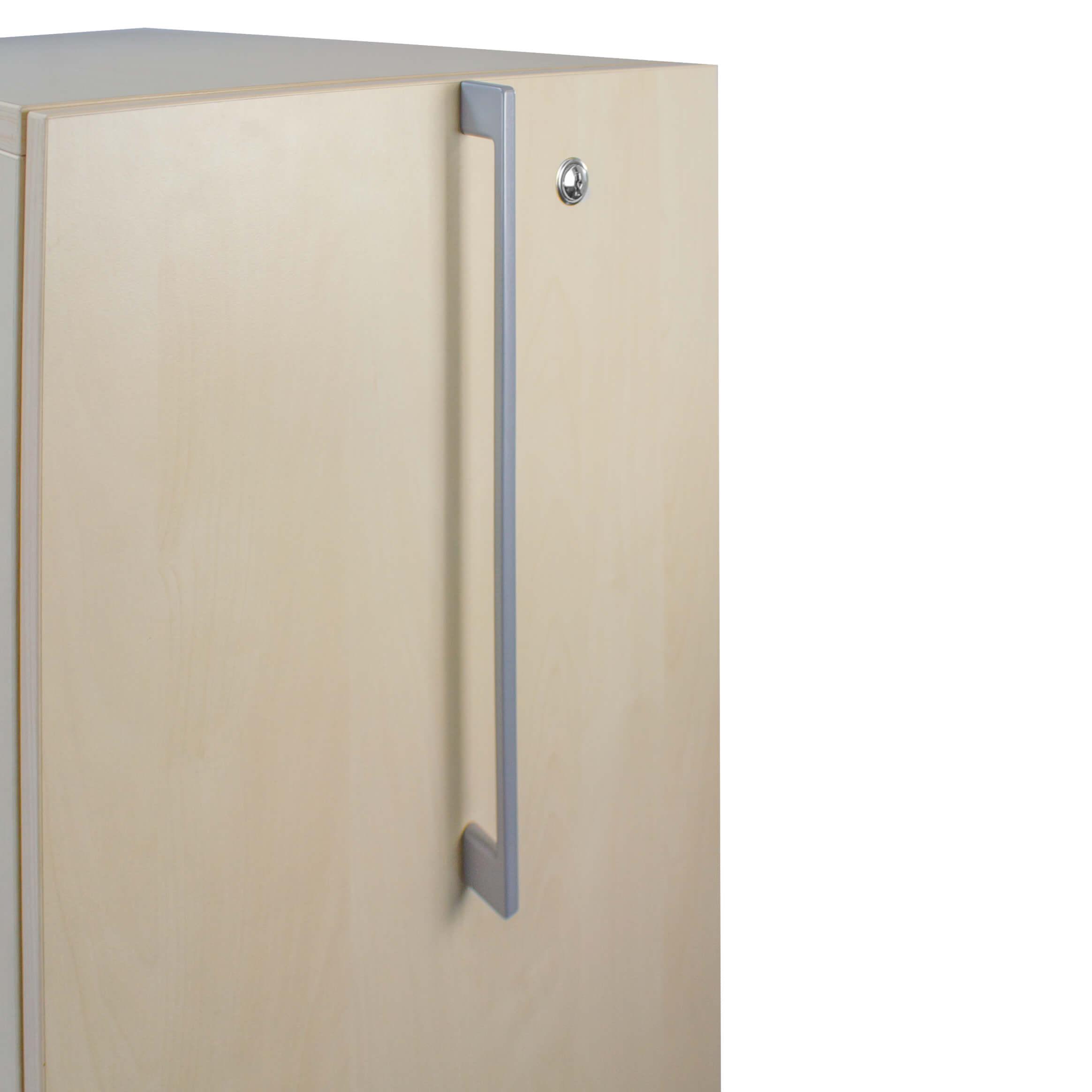 BOXI Apothekerschrank in Ahorn 80 x 40 cm, Caddy,Hochcontainer, Container