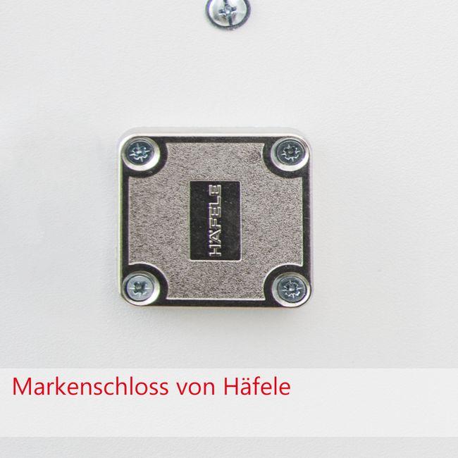 NOVUM Empfangstheke | LED-Beleuchtung, 2200 mm, Weiß