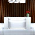 Empfangstheke NOVUM RV-3 Weiß, 2.200 mm LED-Beleuchtung