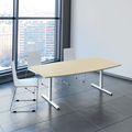 Konferenztisch Bootsform EASY 2.000 x 1.000 mm Ahorn 6 - 8 Personen
