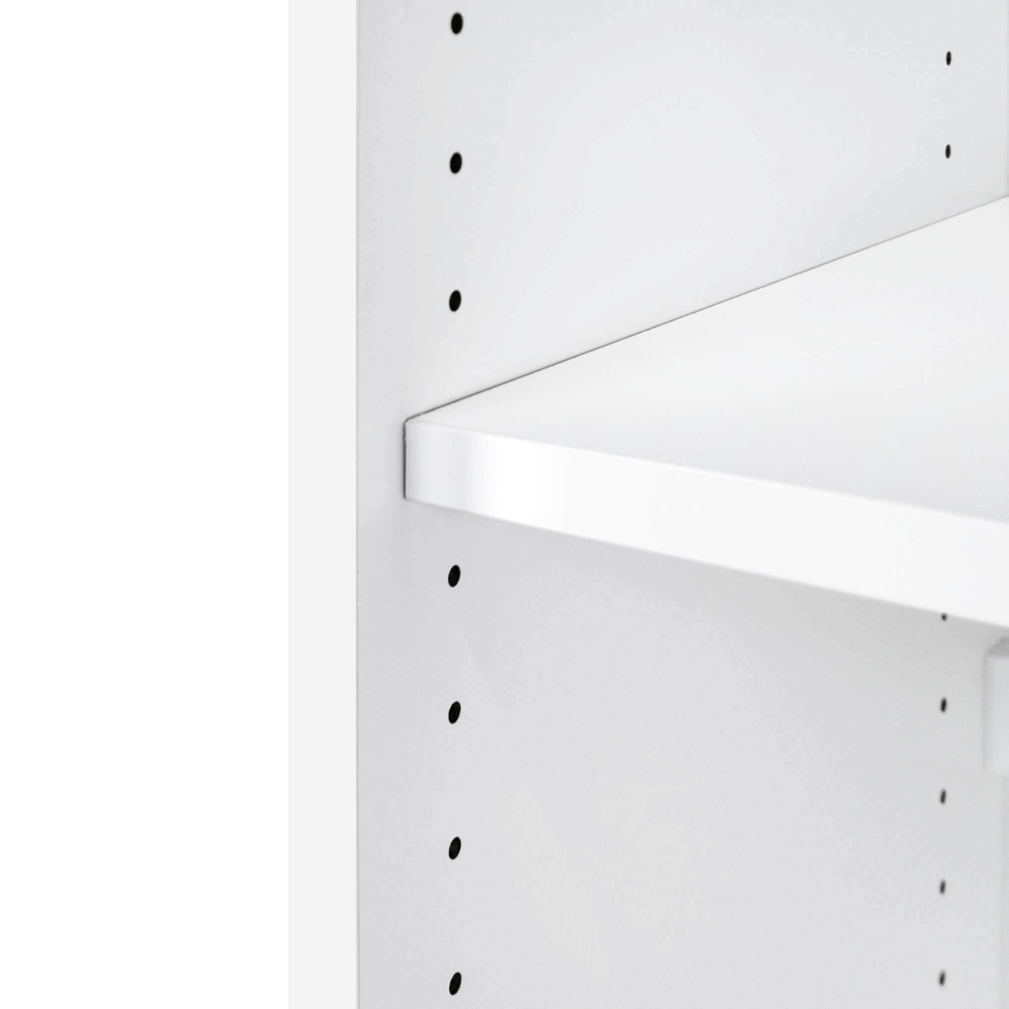 UNI Aktenschrank abschließbar 3OH 1,0 M Weiß Büroschrank Schiebetürenschrank
