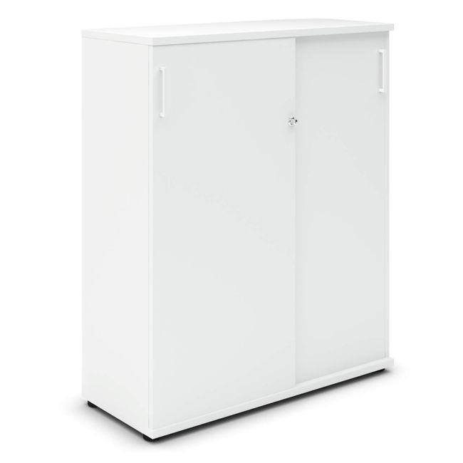 UNI Schiebetürenschrank | 3 OH, 1000 x 1143 mm, Weiß