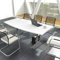 Konferenztisch Bootsform EASY 1.800 x 1.000 mm Weiß 6 - 8 Personen