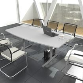 Konferenztisch Bootsform EASY 1.800 x 1.000 mm Lichtgrau 6 - 8 Personen