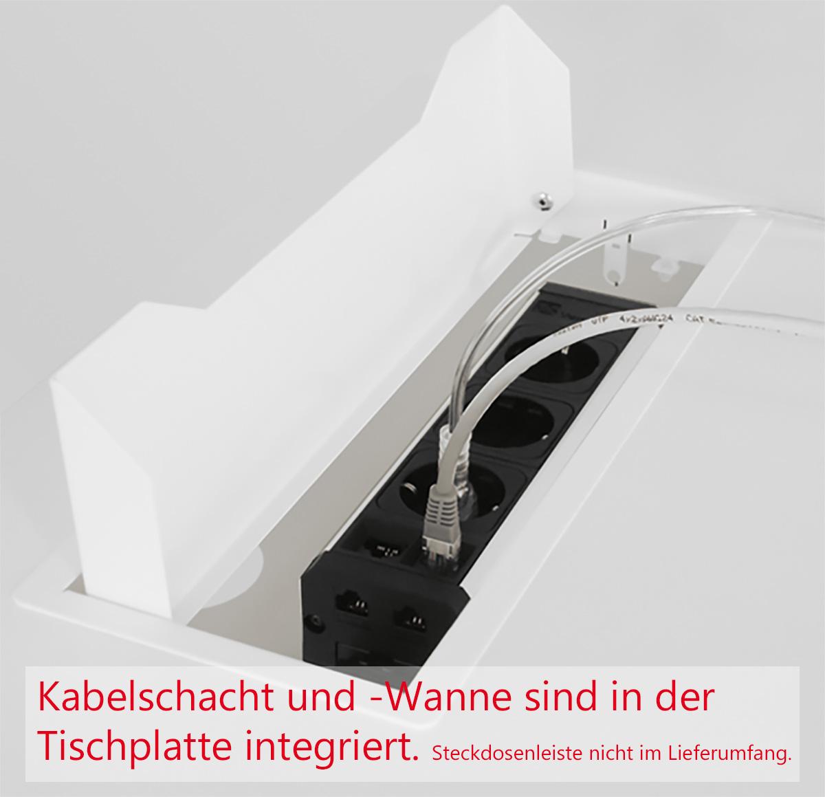 NOVA Konferenztisch 320x164cm Nussbaum mit ELEKTRIFIZIERUNG Besprechungstisch Tisch