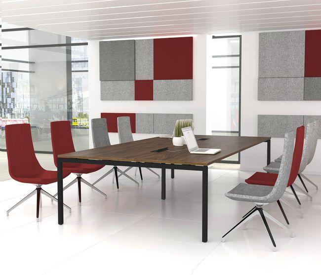 Konferenztisch NOVA 3.200 x 1.640 mm Nussbaum Elektrifizierung 10-12 Personen  – Bild 2
