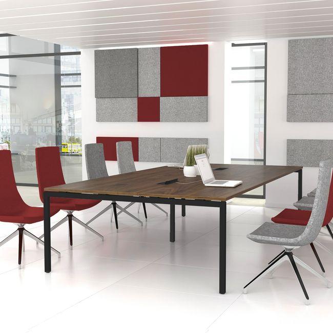 NOVA Konferenztisch | Elektrifiziert, 3200 x 1640 mm (10 - 12 Personen), Nussbaum