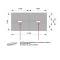 Konferenztisch NOVA 3.200 x 1.640 mm Nussbaum Elektrifizierung 10-12 Personen
