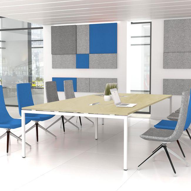 NOVA Konferenztisch   Elektrifiziert, 3200 x 1640 mm (10 - 12 Personen), Ahorn