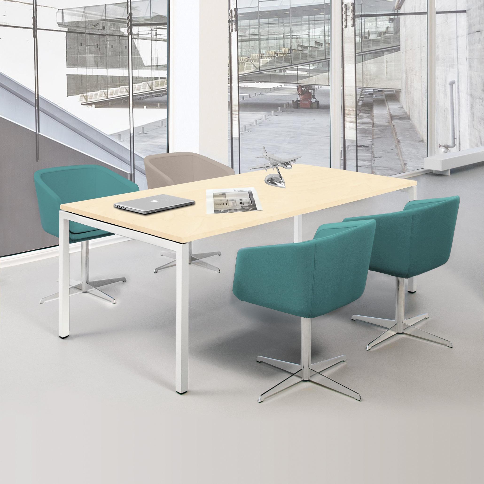 NOVA Besprechungstisch 180x80cm Ahorn 4-6 Pers. Konferenztisch Meetingtisch