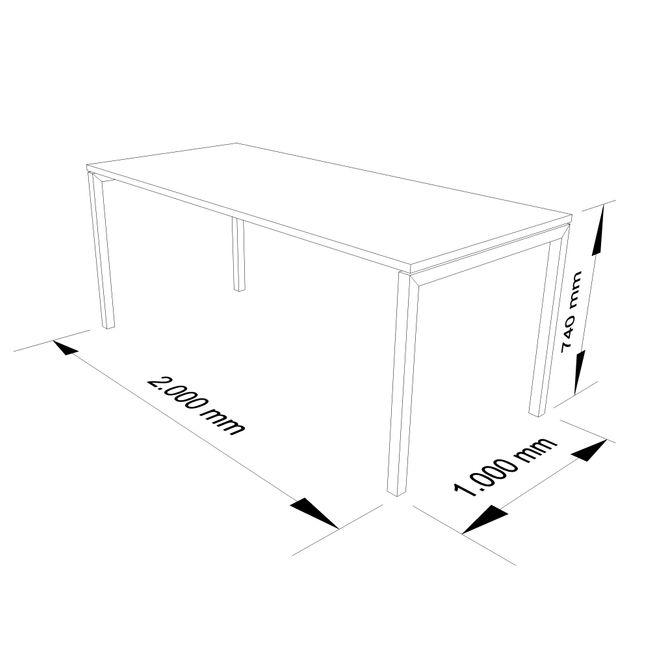 Besprechungstisch NOVA U 2.000 x 1.000 mm Lichtgrau – Bild 4