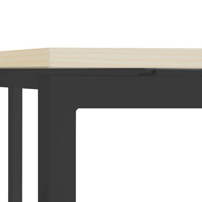 Winkelschreibtisch links NOVA 1.800 x 1.200 mm Ahorn – Bild 23