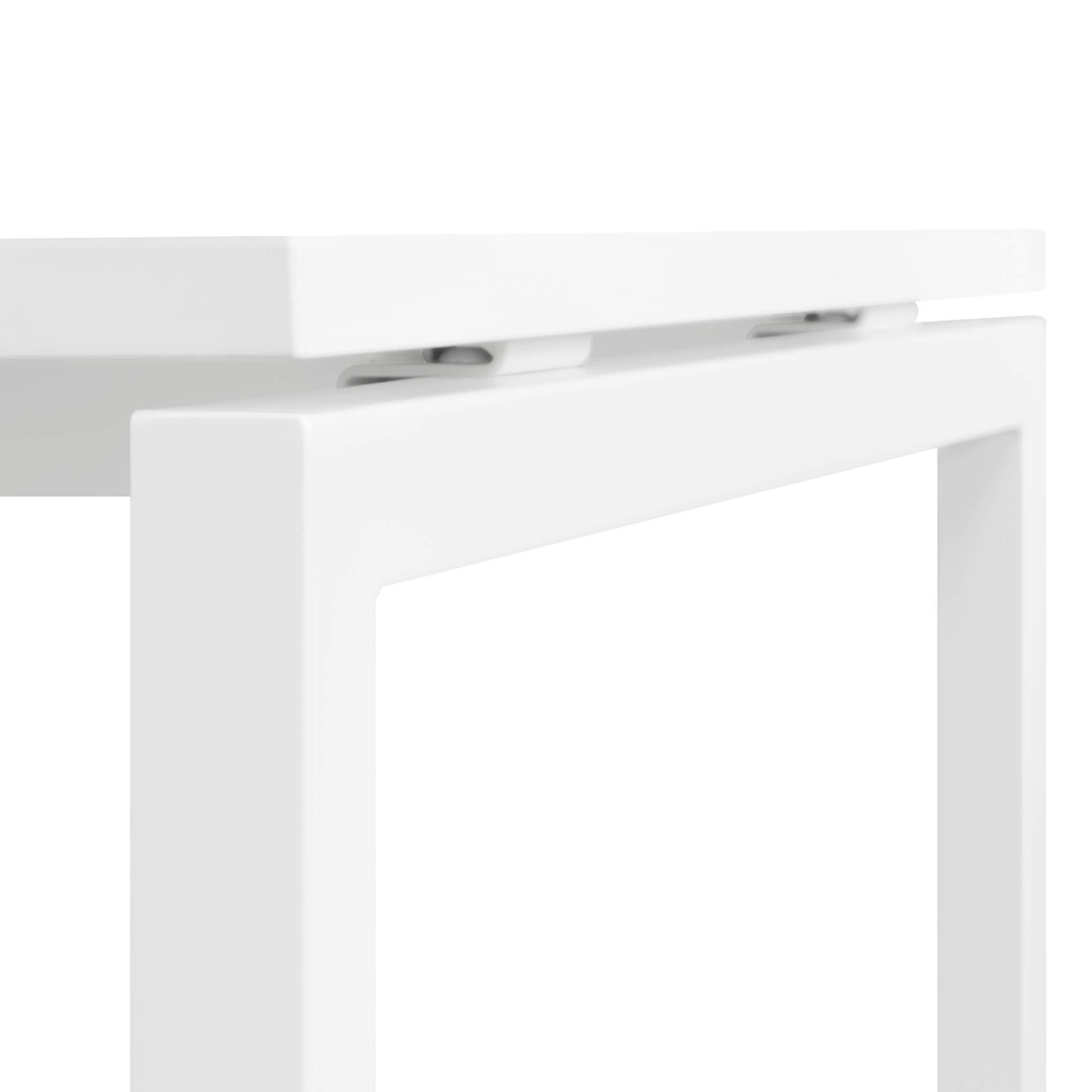 Winkelschreibtisch links NOVA 180 x 120 cm in Weiß Computertisch Eckschreibtisch