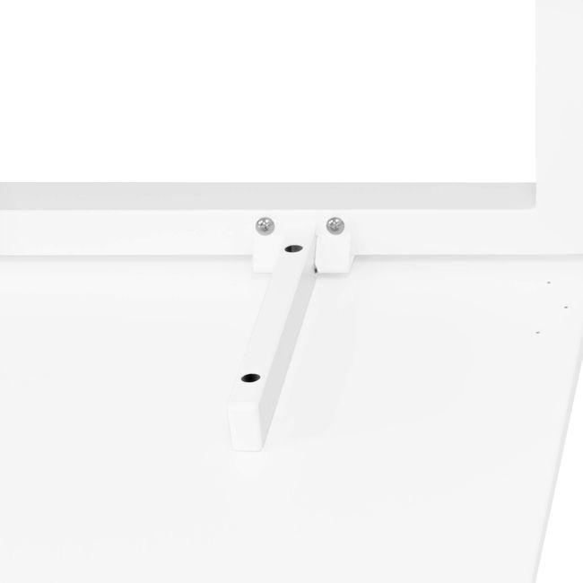 Winkelschreibtisch links NOVA 1.800 x 1.200 mm Weiß – Bild 11