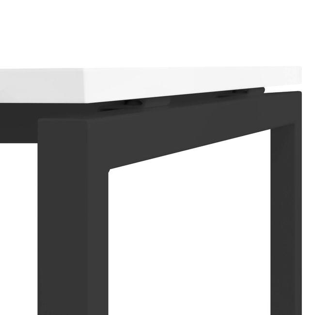 Winkelschreibtisch links NOVA 1.800 x 1.200 mm Weiß – Bild 22