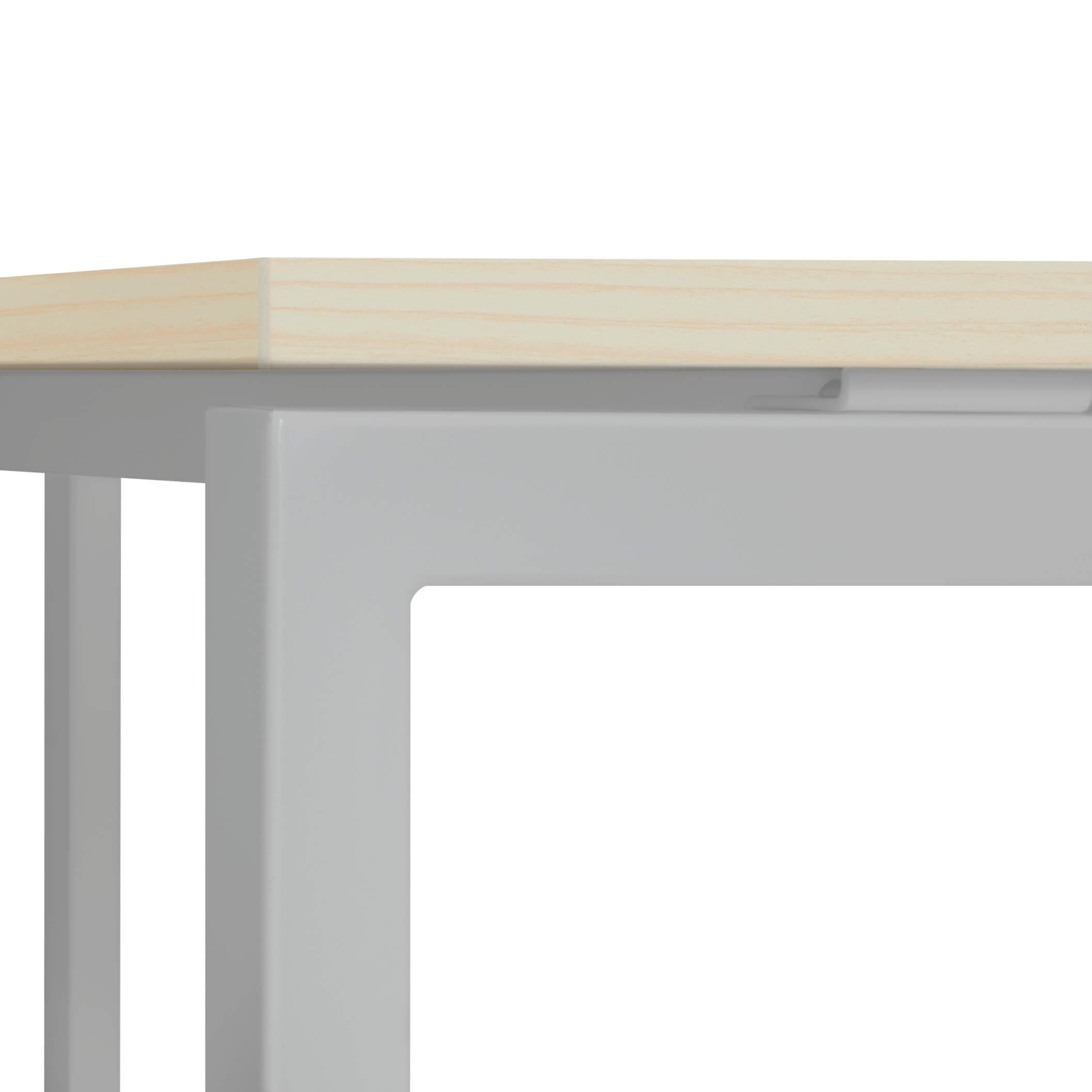 Winkelschreibtisch rechts Computertisch Eckschreibtisch 180 x 120 cm Ahorn NOVA