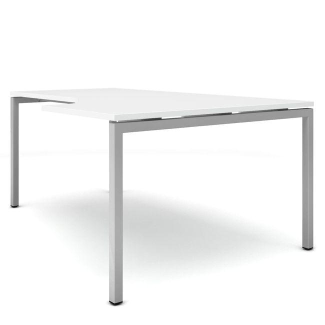 Winkelschreibtisch rechts NOVA 1.800 x 1.200 mm Weiß – Bild 13