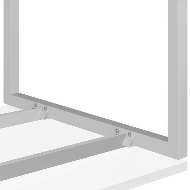 Winkelschreibtisch rechts NOVA 1.800 x 1.200 mm Weiß – Bild 16