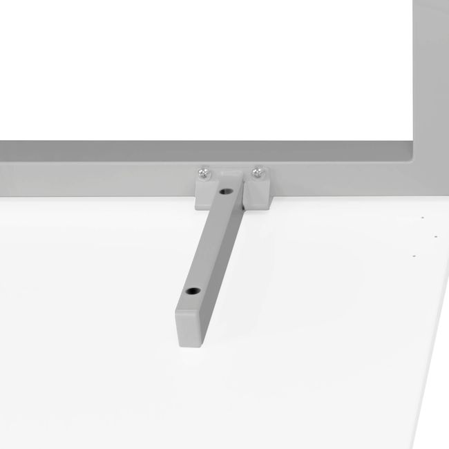 NOVA Winkelschreibtisch | Winkel rechts, 1800 x 1200 mm, Weiß