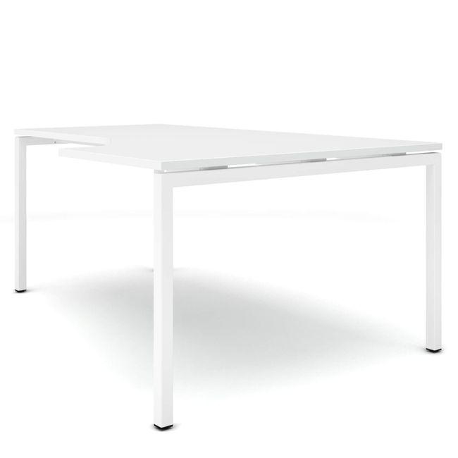 Winkelschreibtisch rechts NOVA 1.800 x 1.200 mm Weiß – Bild 5