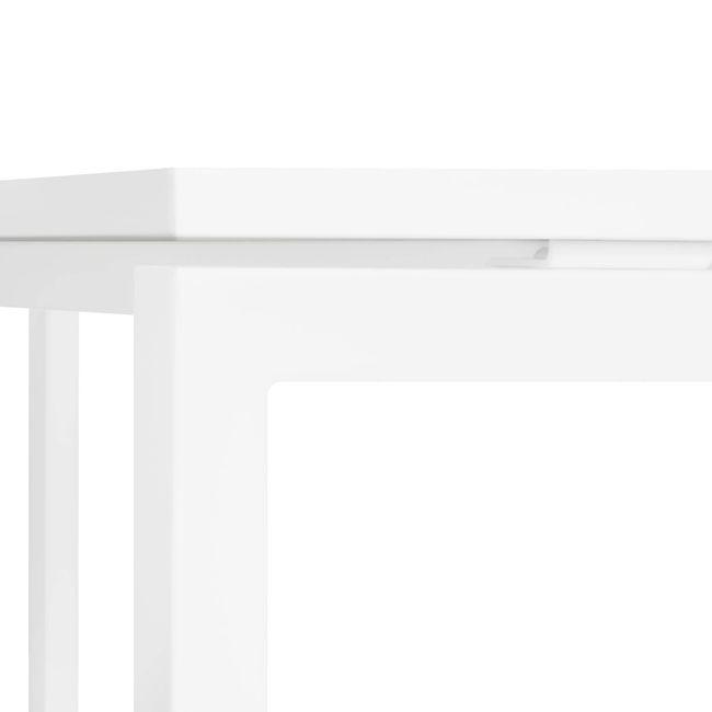 Winkelschreibtisch rechts NOVA 1.800 x 1.200 mm Weiß – Bild 7