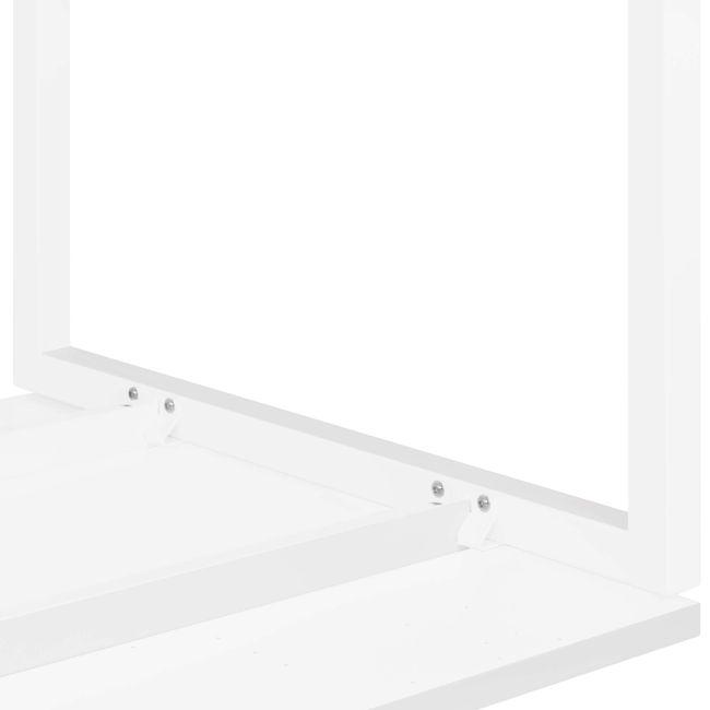 Winkelschreibtisch rechts NOVA 1.800 x 1.200 mm Weiß – Bild 8