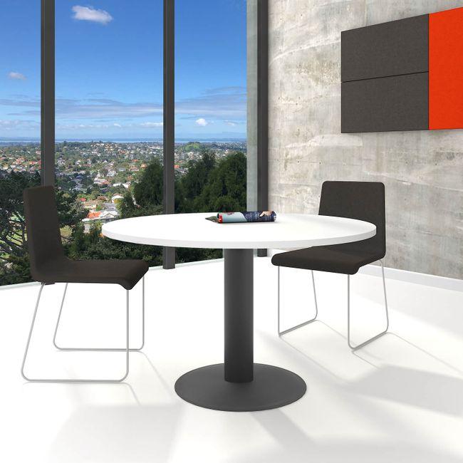 OPTIMA runder Besprechungstisch Esstisch Küchentisch Tisch Weiß Rund Ø 120 cm