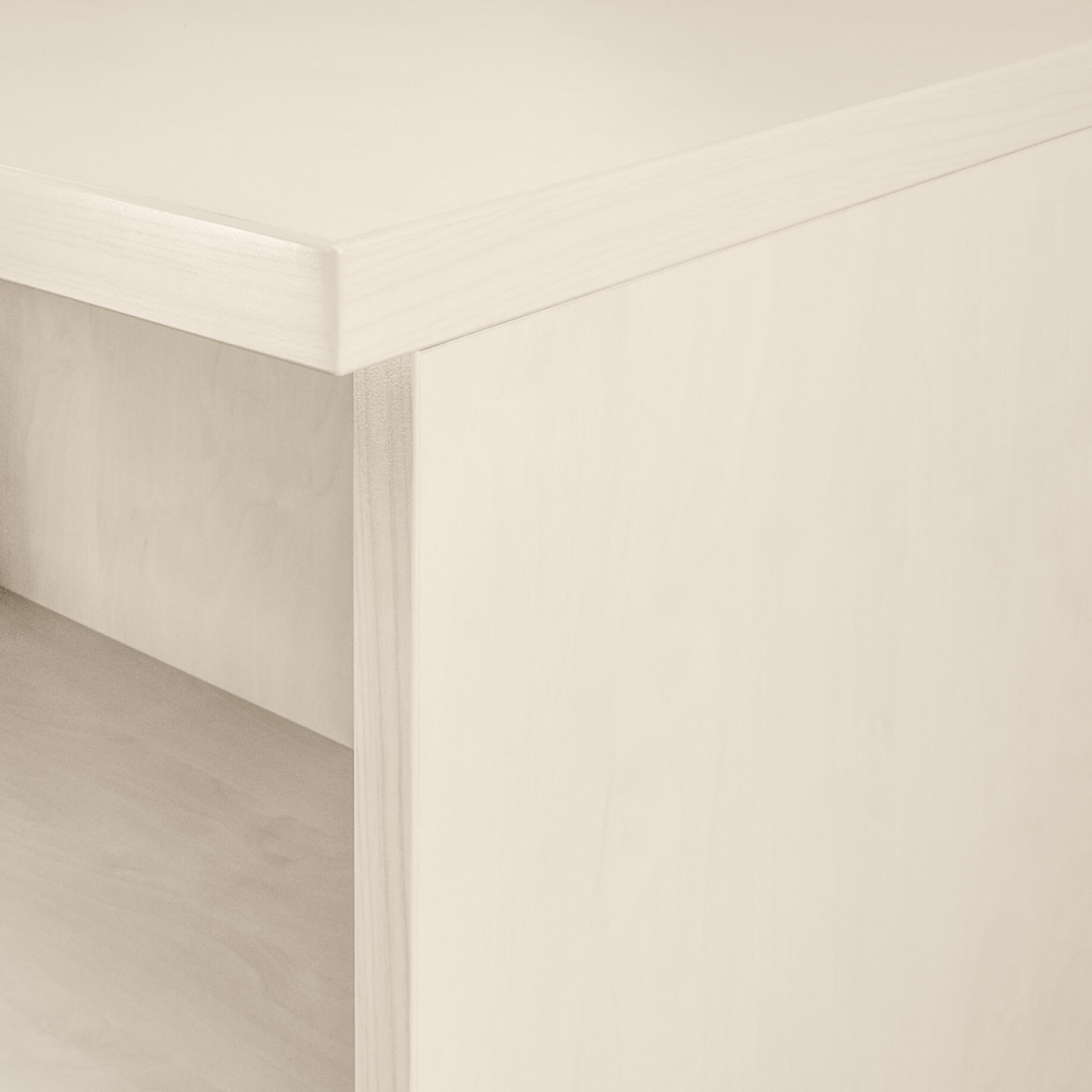 UNI Schiebetürenschrank 1 Meter breit abschließbar 2OH AhornSchrank Büroschrank