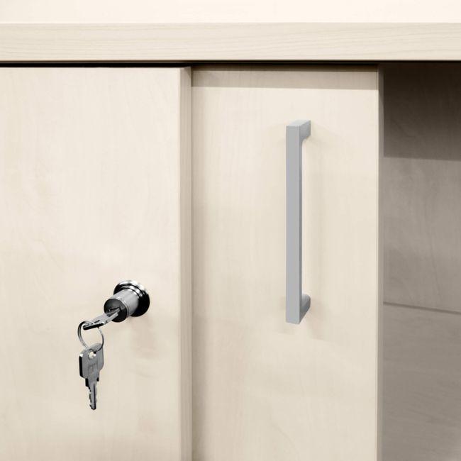UNI Schiebetürenschrank | 2 OH, 1000 x 777 mm, Ahorn