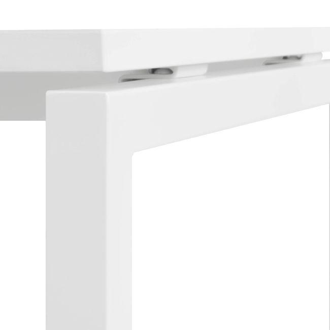 2er Team-Schreibtisch NOVA U 1.600 x 1.640 mm Weiß – Bild 13
