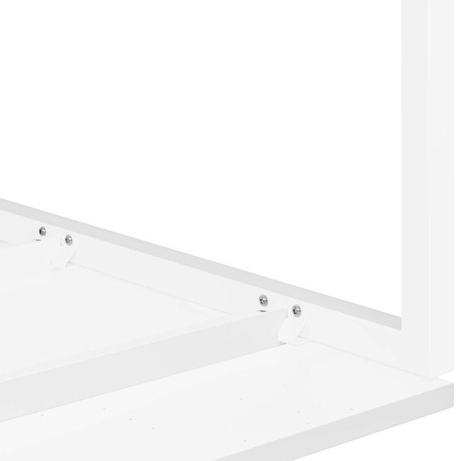 2er Team-Schreibtisch NOVA U 1.600 x 1.640 mm Weiß – Bild 14