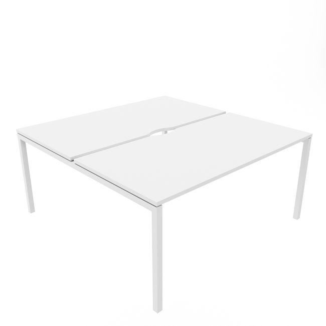 2er Team-Schreibtisch NOVA U 1.600 x 1.640 mm Weiß – Bild 5