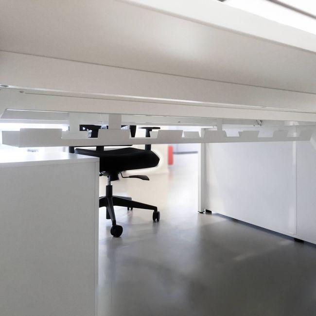 4er Team-Schreibtisch NOVA U 3.200 x 1.640 mm Weiß  – Bild 6