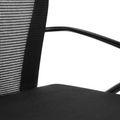 Besucherstuhl auf Rollen VIENA schwarz/silber