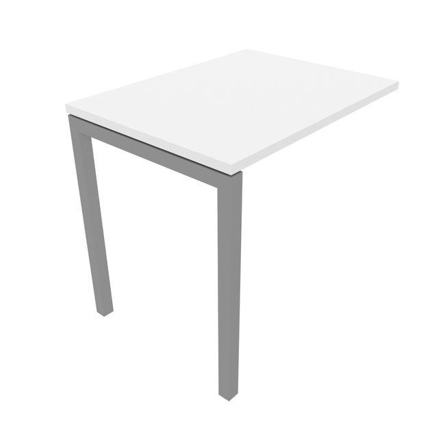 Anbau-Schreibtisch NOVA U 800 x 600 mm Weiß – Bild 3