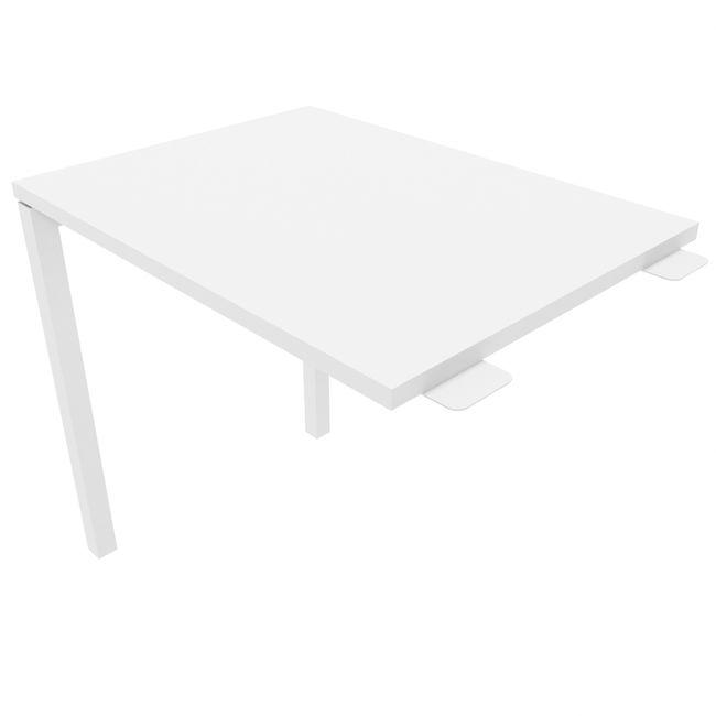 Anbau-Schreibtisch NOVA U 800 x 600 mm Weiß – Bild 4