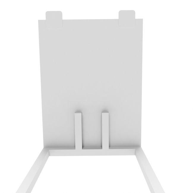 Anbau-Schreibtisch NOVA U 800 x 600 mm Weiß – Bild 5