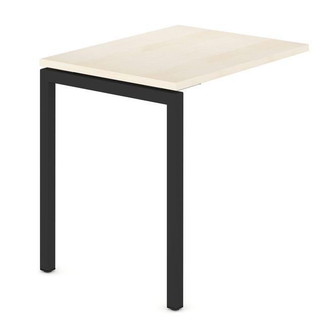 Anbau-Schreibtisch NOVA U 800 x 600 mm Ahorn – Bild 2